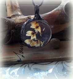 Lily of the valley. Real dried flowers. Terrarium pendant. Glass pendant…