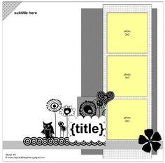 Inspired Blueprints   Sketch 6  #inspiredblueprints #scrapbooking #sketch