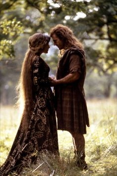 Queen Isabella and William Wallace in Braveheart