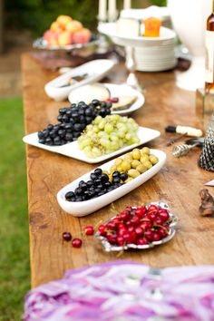 Entertaining outdoors - olives