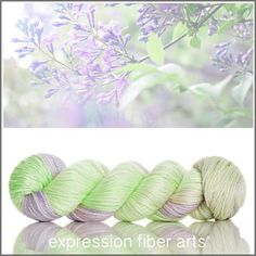 LILAC GARDEN 'LUSTER' SUPERWASH MERINO TENCEL WORSTED YARN BY EXPRESSION FIBER ARTS