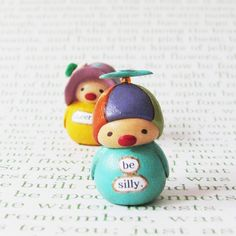 Wee Clown - Be Silly - A Miniature Clay Art Sculpture by humbleBea by humbleBea on Etsy https://www.etsy.com/listing/106440159/wee-clown-be-silly-a-miniature-clay-art