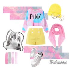 """""""Z6"""" by matmeex on Polyvore featuring Boutique Moschino, Chicnova Fashion, Neff, Jardin des Orangers, Americanflat and pinkandyellow"""