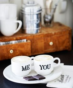 Coffee time | Me & You -  lovely cups