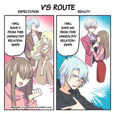 """erumi-n: """"only 2 days in V's route so far and yet this is happening """""""