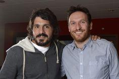 Karim Di Matteo avec Gennaro Gattuso footballeur calabrais au FC Sion, ancien joueur du Milan AC. Photo: Chantal Dervey
