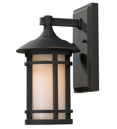Z-Lite 528S-ORB Woodland 1 Light 11 inch Oil Rubbed Bronze Outdoor Wall Sconce #LightingNewYork