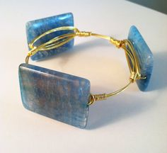 The Wrightsville  gold wire wrapped bracelet bangle by SOHbangles