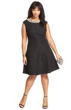 Plus Size Fit & Flare Dress - Plus Size Cocktail Dress