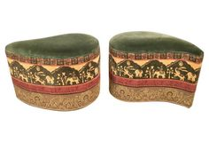 1960s Morrocan-Style Ottomans, Pair