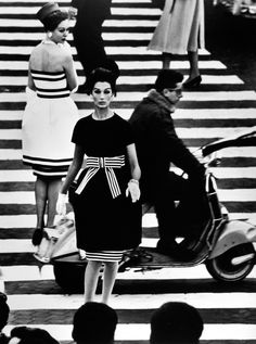 High Contrast - Nina + Simone, Piazza di Spagna, Rome, 1960 by William Klein