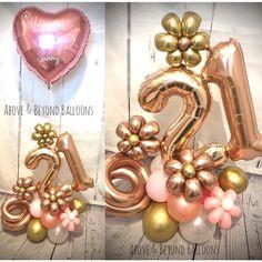 Birthday Balloon Decorations, Happy Birthday Balloons, Balloon Bouquet Delivery, Balloon Ideas, Boquet, Number Balloons, Ornament Wreath, Cami, Sculptures
