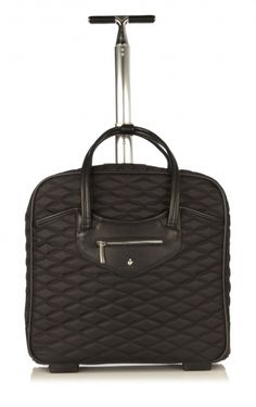 Nassau East /West Wheeled Trolley from KNOMO: Official Store | Women's Wheeled Laptop Bag | Black Quilted Wheeled Bag | Laptop Bags| Laptop Bags| Designed by KNOMO London