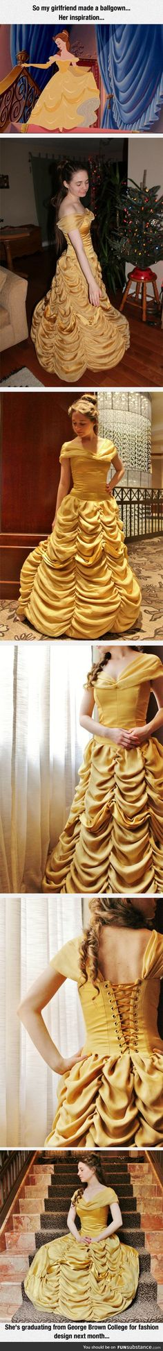 Beautiful dress inspired by a Disney princess