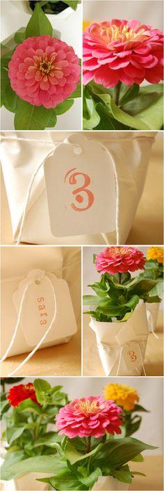 DIY Wedding: Flower Favors - Project Wedding