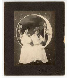 Paper Moon Couple by Rile Santa Monica California Vintage Cabinet Photo | eBay