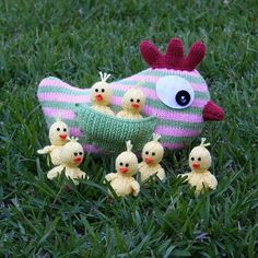 Mother Hen and Chicks--PDF Knitting Pattern $4.50 (etsy)