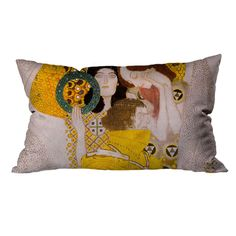 Gustav Kimt - Beethoven Friz (Detay) 3 - Kırlentler - Cipcici Throw Pillows, Bed, Toss Pillows, Stream Bed, Decorative Pillows, Decor Pillows, Beds, Scatter Cushions