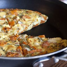 A frittata filled with roasted sweet potato and parsnips. #foodgawker