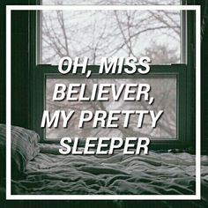 oh ms believer twenty one pilots (i love this song even if you're not a fan of top like listen it's gr8)