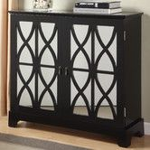 Found it at Wayfair - Console Cabinet with Mirrored Glass Door