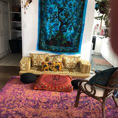 Your place to buy and sell all things handmade Moroccan Living Room Furniture, Tuscan Living Rooms, Bohemian Furniture, Boho Living Room, Living Room Sofa, Living Room Interior, Cool Furniture, Living Spaces, Nook