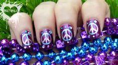 Simbolo de la paz, en tonos morados.