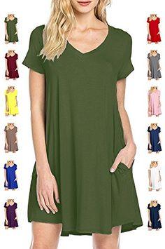 b0967e62f647 Dresses Length  Knee-LengthNeckline  V-NeckSilhouette  LooseMaterial   Polyester