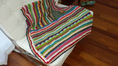 CROCHET PONCHO MADE FROM LEFT OVER WOOL