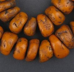 Old Moroccan Amber Resin Beads