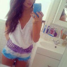 DIY Dip-Dye Shorts