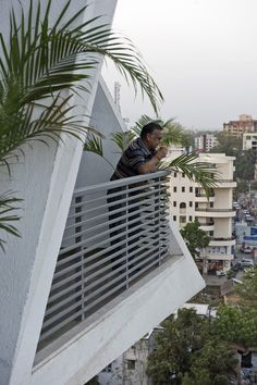 Image 1 of 22 from gallery of Ishatvam 9 / Sanjay Puri Architects. Photograph by Dinesh Mehta Residential Building Design, Area 3, Tower Design, Private Garden, Stairs, Construction, City, Gallery, Outdoor Decor