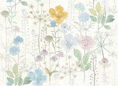 Watercolor Flowers Wallpaper Fresh Spring Flower & by DreamyWall