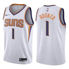 Men 1 Devin Booker Jersey White Phoenix Suns Jersey Swingman Fanatics 94d187b43