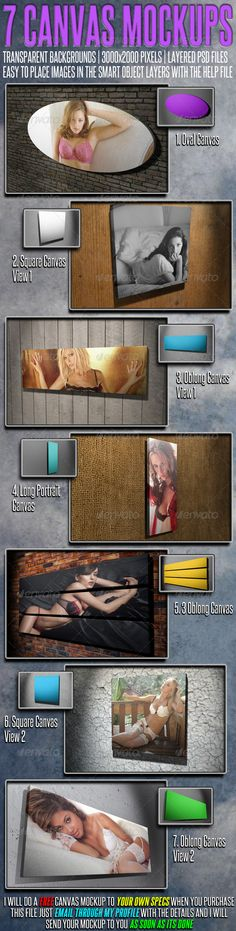 7 More Canvas Mock Ups - Miscellaneous Displays