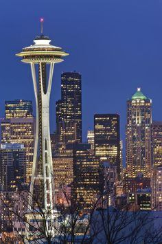 ✯ Space Needle and Downtown Seattle Skyline