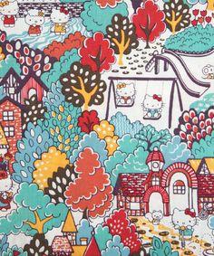 Stoffenserie van Liberty London, met Hello Kitty prints. Als we naar London gaan, zeker bij Liberty kijken!