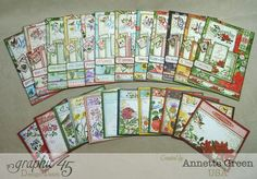 All the calendar tags from Annette's desktop Time to Flourish calendar! Click to get to her video tutorial for this great project #Graphic45