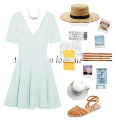 """""""Untitled #74"""" by violetvv on Polyvore featuring Cartier, Opening Ceremony, Ancient Greek Sandals, Janessa Leone, Band of Outsiders, Polaroid and Moleskine"""