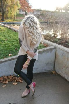 CARA LOREN fashion blog: Sparkly Elbows    sweater: c/o PB Boutique   pants: Cotton On similar   shoes: Aldo   earrings: c/o Bohypsy   bracelets: c/o Bip & Bop & c/o Marie Todd