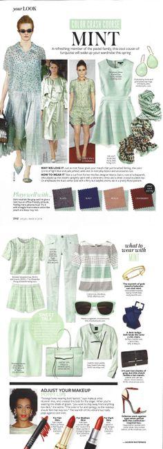 InStyle Magazine Mint Color Crash Course