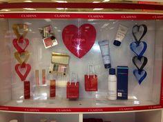 Clarins Valentines display Beales of Keighley @lovebeales