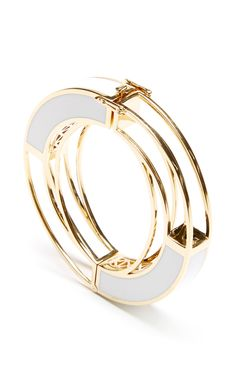 Gold Circle Frame Bracelet by Eddie Borgo for Preorder on Moda Operandi