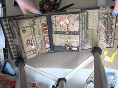 Haberdashery Mini Album - see this for page ideas - pockets, flaps, tags, etc.