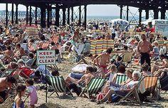 the beach at Blackpool, England