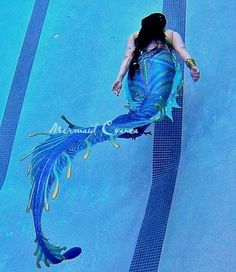 Full Silicone Mermaid Tail by Mermaid Cyanea (Sea Serpent Studios). Heavily inspired by Sea Monsters. I've never seen a silicone tail like this before. Fantasy Mermaids, Real Mermaids, Mermaids And Mermen, Siren Mermaid, Mermaid Tale, Tattoo Mermaid, Manga Mermaid, Magical Creatures, Fantasy Creatures