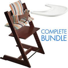 The Stokke Tripp Trapp High Chair Complete Bundle Includes The Innovative,  Award Winning Stokke Tripp Trapp Baby High Chair Plus A Baby Set, A Cushion  And A ...