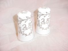... Wedding Anniversary Salt Pepper Set Shakers Keepsake Gift #anniversary