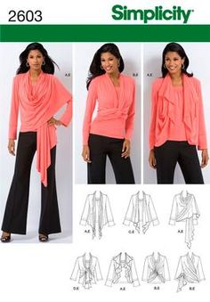 I have one of these and it's very versatile. Pattern for a convertible sweater/top, much like a DKNY Cozy.