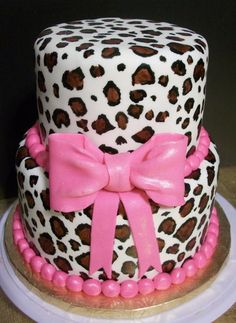 Leopard Print Cake - this print is usually painted on the cake - so additional charges would apply